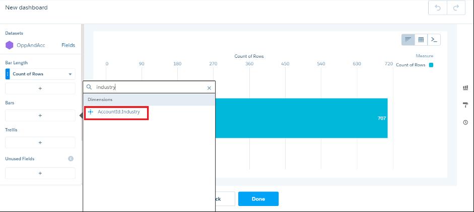 Select Bars - AccountId.Industry